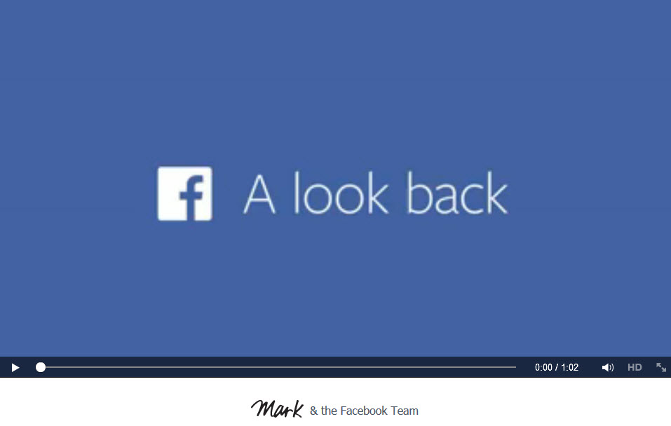 Facebook a Look Back Video